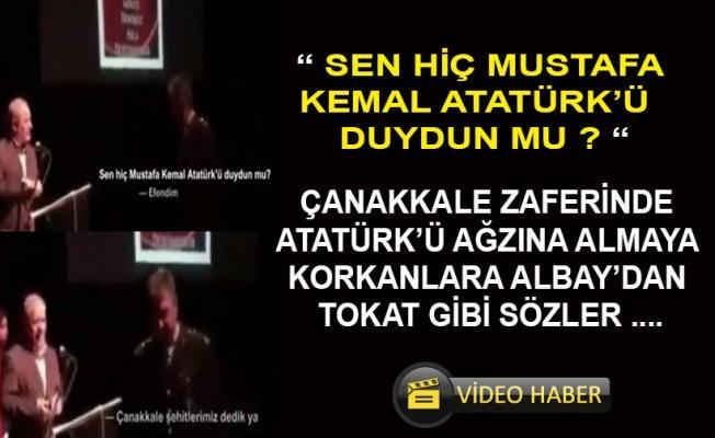 Albaydan hocaya Atatürk tepkisi