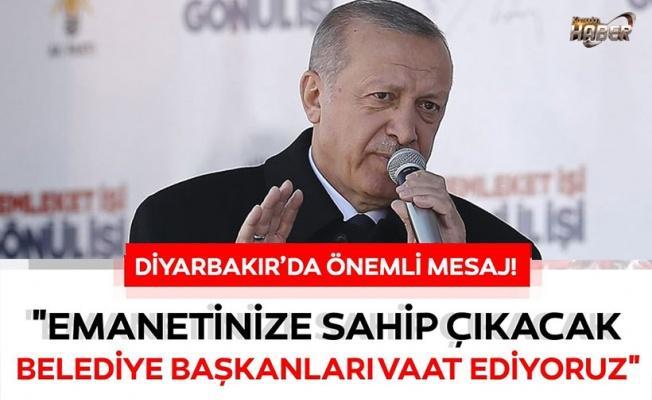 Başkan Erdoğan'dan Diyarbakır'da önemli açıklamalar.