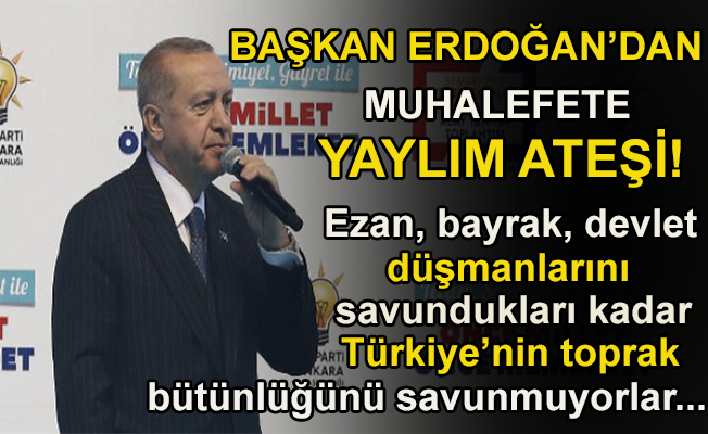 Başkan Erdoğan Yenimahalle mitinginde konuşuyor.