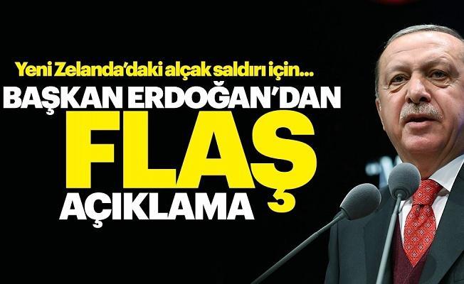 Cumhurbaşkanı Erdoğan: Yeni Zelanda'da Müslümanlara yapılan terör saldırısını şiddetle kınıyorum