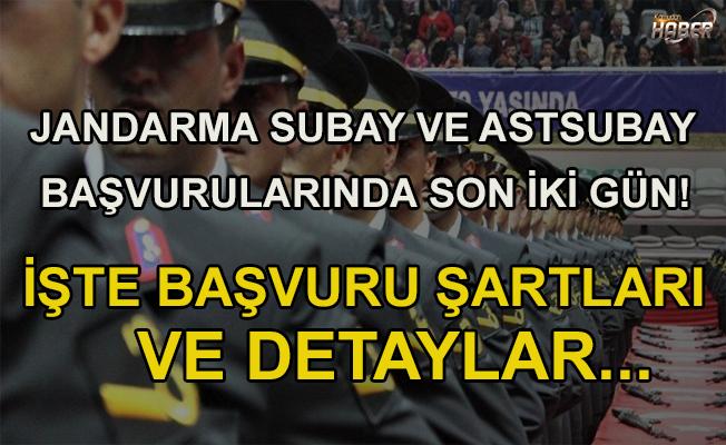 Jandarma Subay ve Astsubay Başvurularında son iki gün!