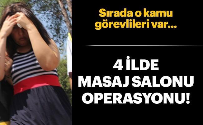 Masaj salonlarındaki rüşvet soruşturmasında 4 gözaltı