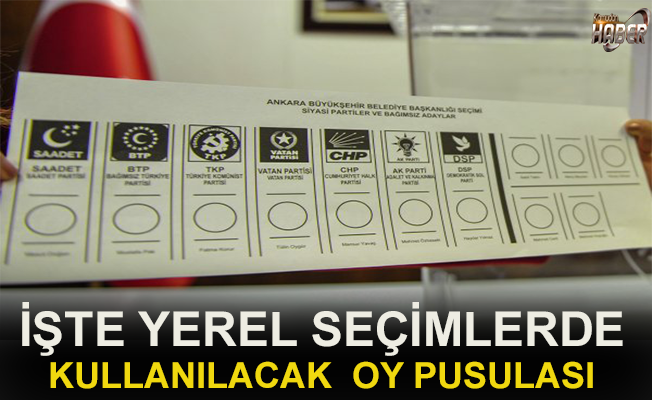 Yerel seçimlerde kullanılacak oy pusulaları basına tanıtıldı.