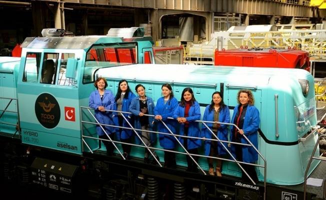 Yerli ve milli lokomotiflerde kadın imzası