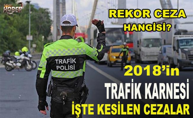 2018 yılında trafik polisleri yoğun mesai harcadı...