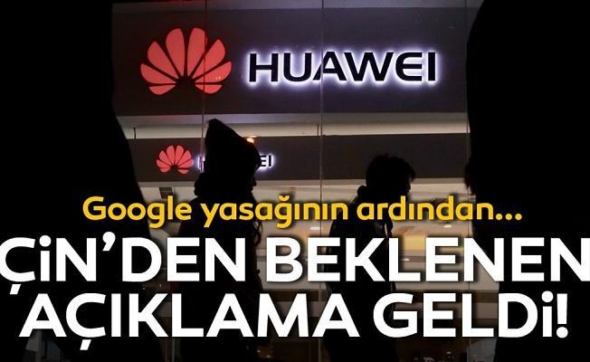 """Çin'den Huawei için açıklama geldi! """"Bekleyin ve görün"""" uyarısı yapıldı!"""