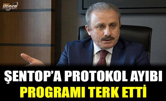 Meclis Başkanı Şentop'a protokol ayıbı! Programı terk etti