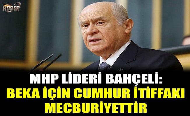 MHP lideri Bahçeli: Beka için 'Cumhur İttifakı' mecburiyettir