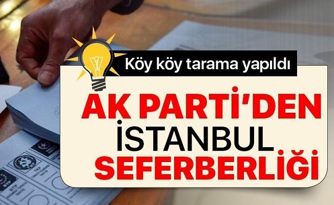 AK Parti İstanbul için seferberlik ilan etti! 300 bin seçmen için çalışmalar sürüyor .
