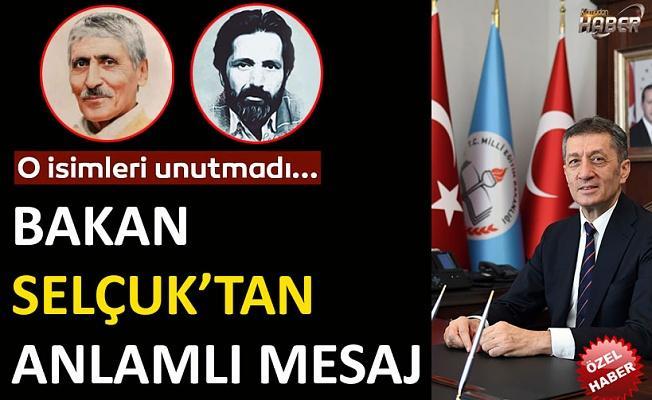 Bakan Ziya Selçuk,şairler Karakoç ve Zarifoğlu'nu andı.