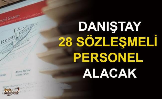 Danıştay 28 sözleşmeli personel alacak