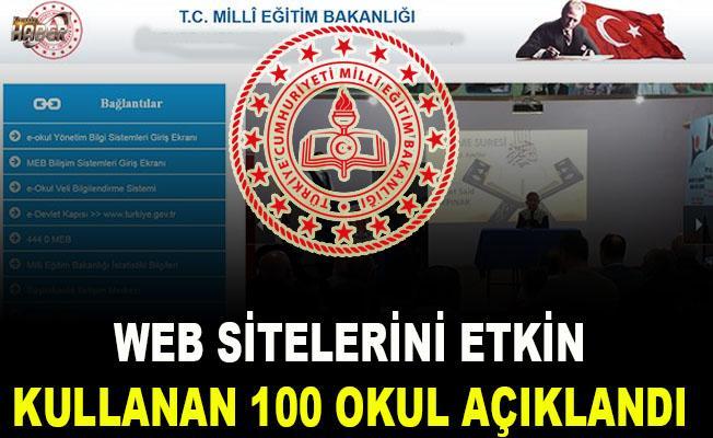MEB, Web Sitelerini Etkin Kullanan İlk 100 Okulu Açıkladı