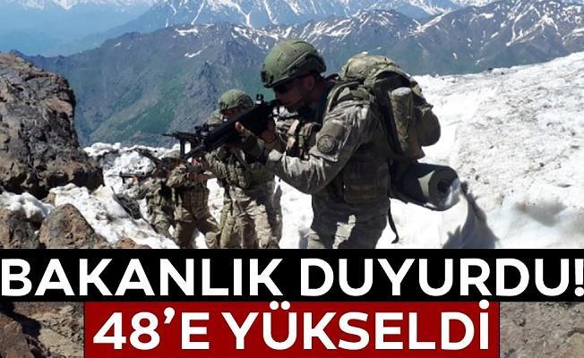 MSB açıkladı! 48 terörist öldürüldü