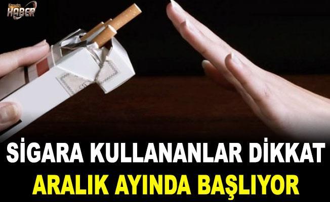 Sigara paketlerinde yeni dönem!