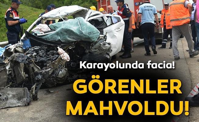 Sinop'ta geci kaza: 2 üniversite öğrencisi yaşamını yitirdi