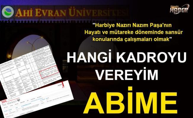 Üniversitede 'kişiye özel' kadro ilanı!