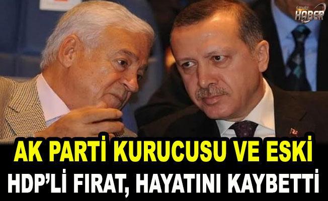 AK Parti kurucusu Dengir Mir Mehmet Fırat, hayatını kaybetti