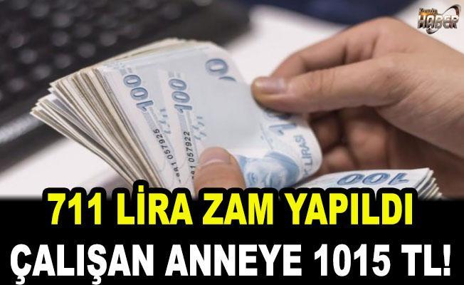 Çalışan anneye 1.015 lira