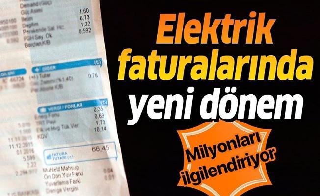 Elektrik faturaları sadeleşecek