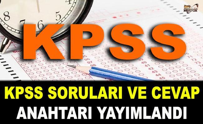 2019 KPSS soruları ve cevap anahtarı yayımlandı