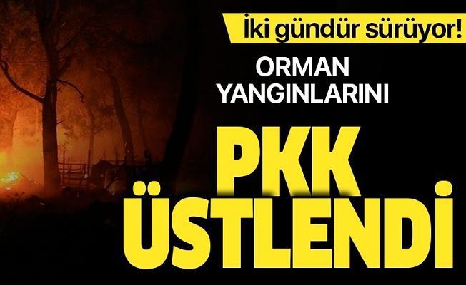 Muğla'daki orman yangınlarını terör örgütü PKK üstlendi.