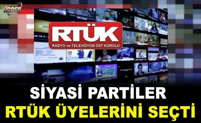 Siyasi Partiler Yeni RTÜK üyelerini seçti
