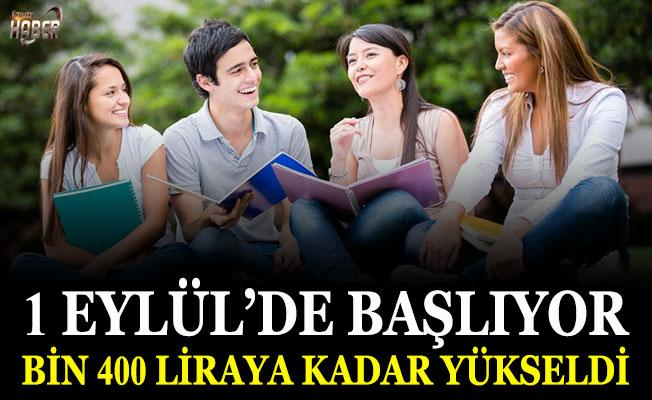 Başarılı öğrenciye 1400 liraya varan destek!