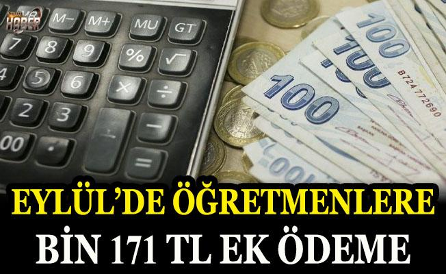 Eylül ayında öğretmene 1.171 TL ek ödeme verilecek
