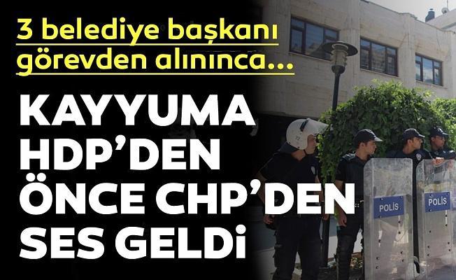 HDP'li 3 büyükşehir belediye başkanının görevden alınmasına ilk tepki CHP'den geldi!