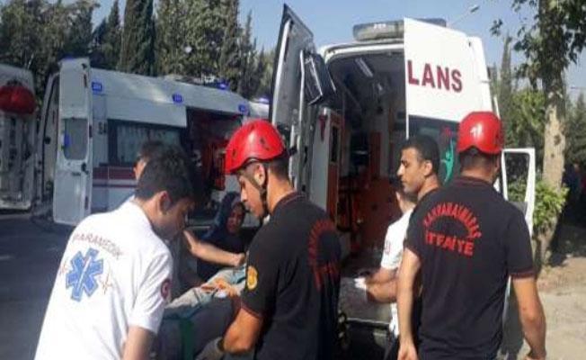 Kahramanmaraş'ta trafik kazası: 12 yaralı