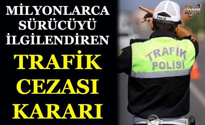 Sürücüleri ilgilendiren emsal trafik cezası kararı