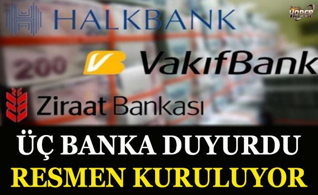 3 banka duyurdu! Resmen kuruluyor