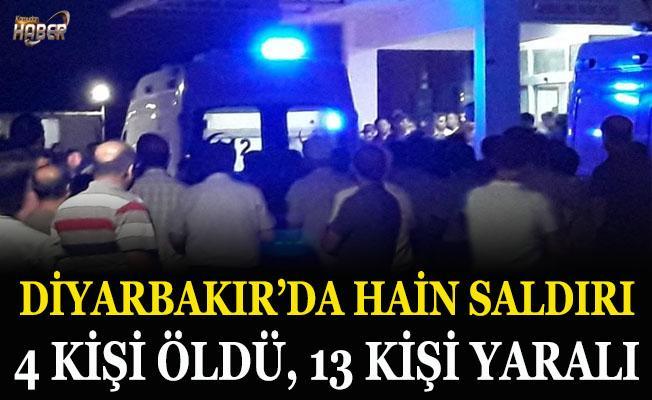 Diyarbakır'da hain saldırı: 4 kişi öldü, 13 kişi yaralı