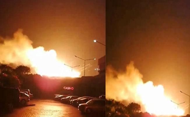 Girne'de askeri bölge içindeki cephanelikte patlama meydana geldi