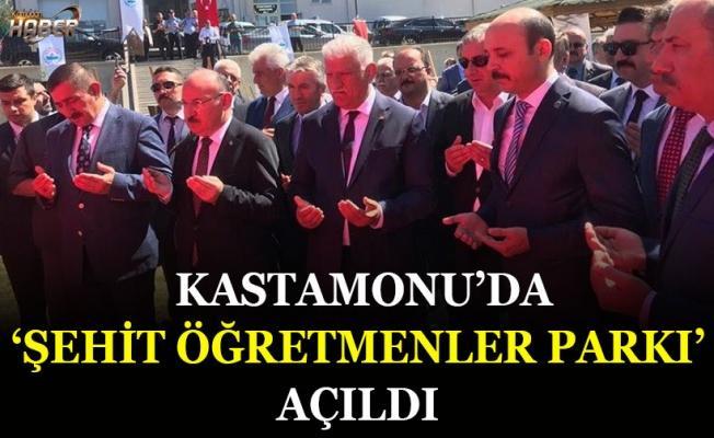 """Kastamonu'da """"Şehit Öğretmenler Parkı"""" açıldı"""