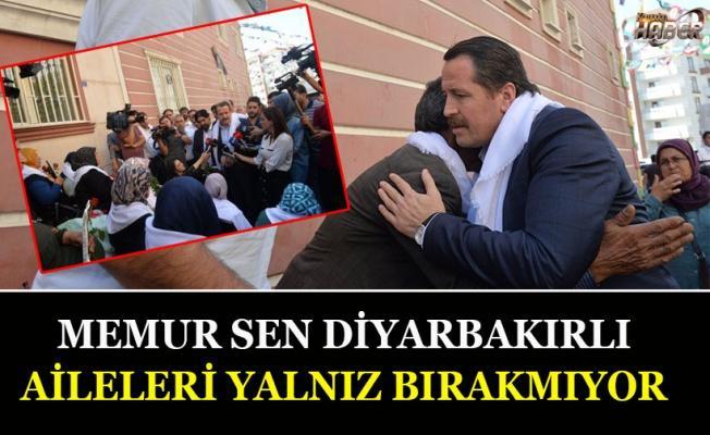 Memur-Sen Genel Başkanı Ali Yalçın Diyarbakırlı aileleri ziyaret etti.