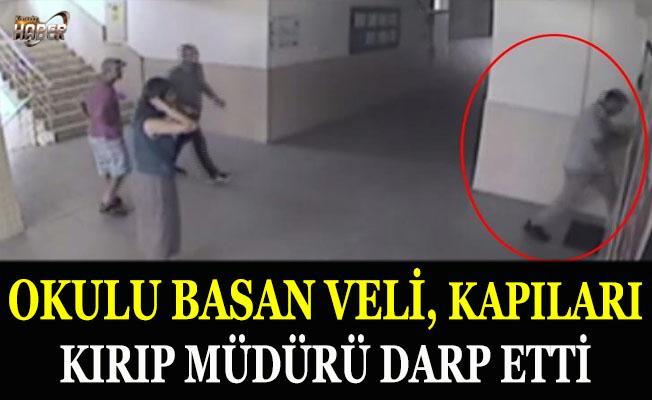 Okul basan Veli, kapıları kırıp müdürü darp etti