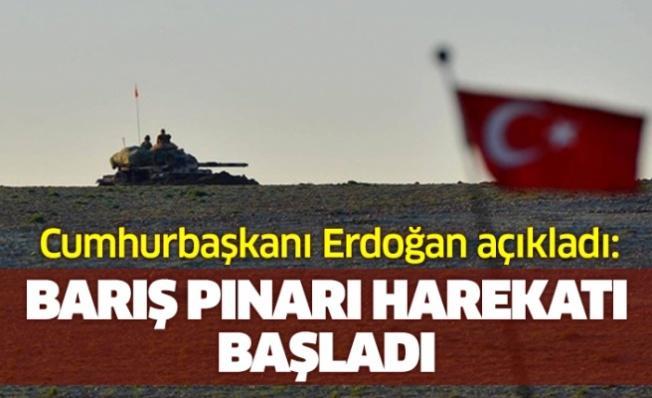 Erdoğan: Fırat'ın doğusuna harekat başlamıştır