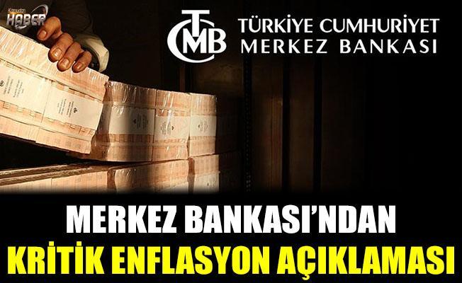 Merkez Bankası'ndan flaş faiz ve enflasyon açıklaması.