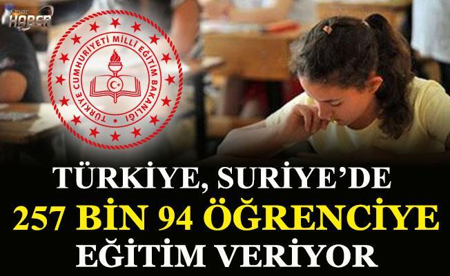 Türkiye, Suriye'de 257 bin 94 öğrenciye eğitim veriyor