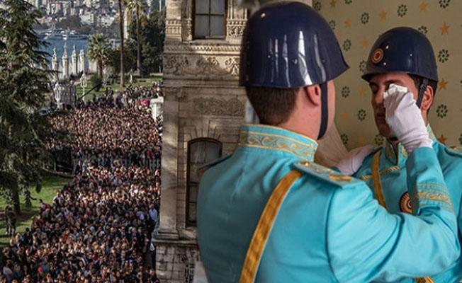 Dolmabahçe Sarayı'nda bugün... Gözyaşlarına boğuldular
