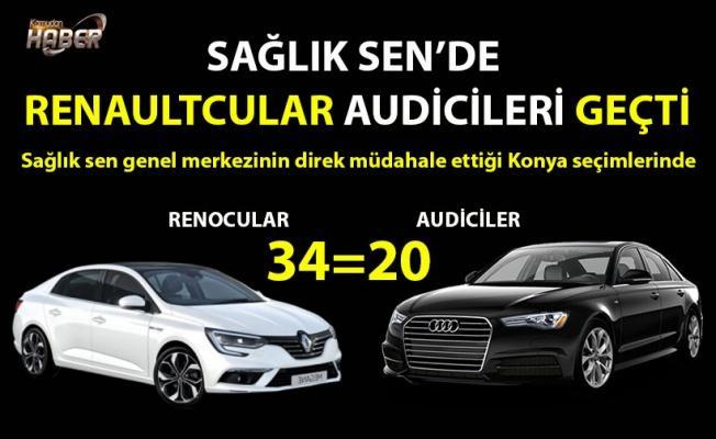 Sağlık Sen'de Renaultcular:34 - Audiciler:20