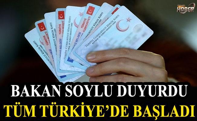 Bakan Soylu duyurdu. Tüm Türkiye'de başladı