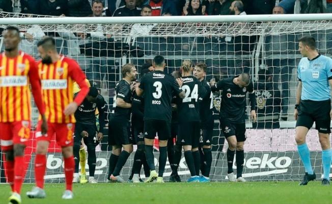 Beşiktaş galibiyet serisini sürdürdü