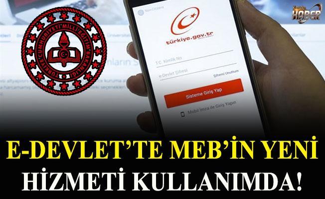 E-Devlette MEB'in yeni hizmeti kullanımda!