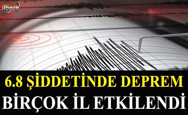 6,8 şiddetinde deprem meydana geldi