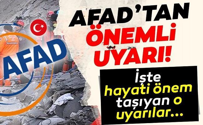 AFAD'dan uyarılar: SMS kullanın, hasarlı yapılara girmeyin