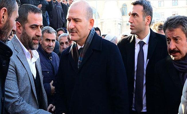 Bakan Soylu'dan A. Çevik'in ailesine taziye ziyareti