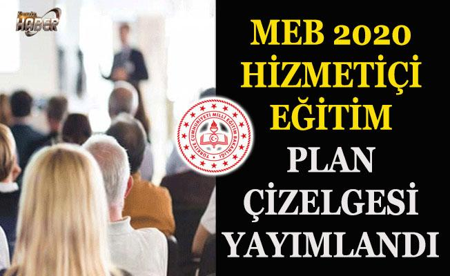 MEB, 2020 Yılı Hizmetiçi Eğitim Plan Çizelgesini yayımladı