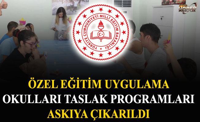 MEB, Özel Eğitim Uygulama Okulları taslak programlarını askıya çıkardı